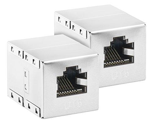 mumbi 2X CAT.6 Ethernet Modular Kupplung / RJ45 Netzwerkkabel Buchse/Adapter für CAT6 Kabel