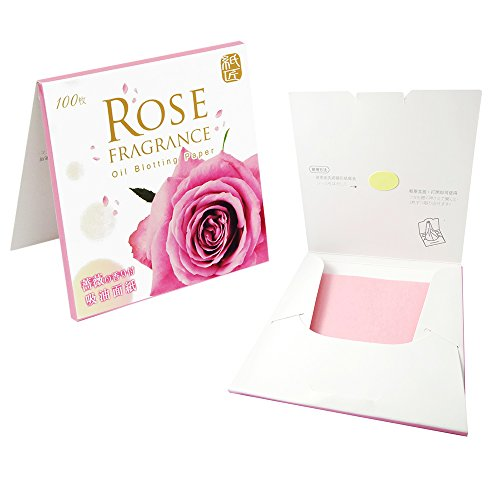 300 Papiers matifiants - Essence de Rose Naturel - oil control blotting paper - (100 feuilles x 3 pack)
