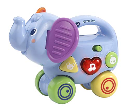 VTech ELI rueditas, pousse, roue et évacue jouet bébé, Couleur - 3480 - 513622 - version espagnole