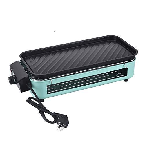 HE-XSHDTT Elektrischer Grill Multifunktionaler Doppelschichtiger Haushaltsgrill Elektrische Heizung Und Rauchfreies...