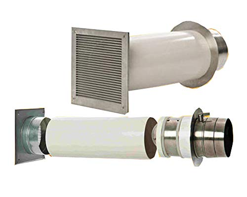 Verbrennungsluftsystem mit Doppelklappe 100mm (VLS) Zuluft-Set für Kamin