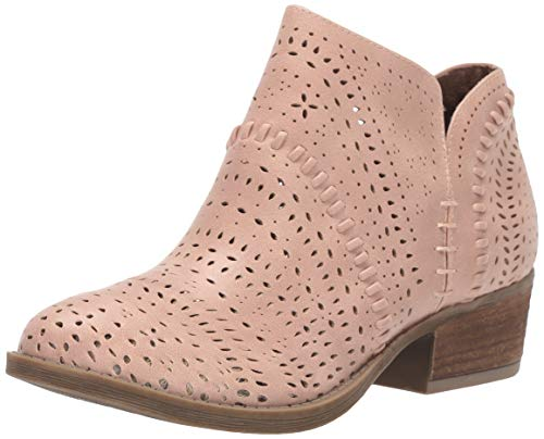 Not Rated Noka Lazer Cut Bootie in Pale Rose, 6.5