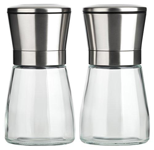 B.PRIME-kruidenmolenset CLASSIC - set van twee handmatige kruidenmolens met keramisch maalwerk - zoutmolen - pepermolen