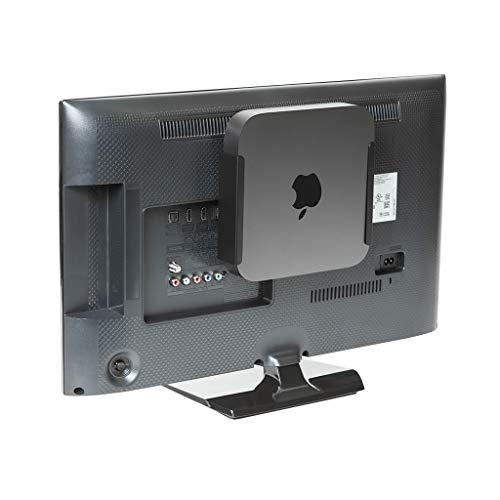 HIDEit MiniU Mac Mini Mount - Mount for Mac Mini (Black) - US Patented Wall Mount, Under Desk Mount and VESA Mount - No Ugly Tabs or Unnecessary Bulk - Designed in The USA