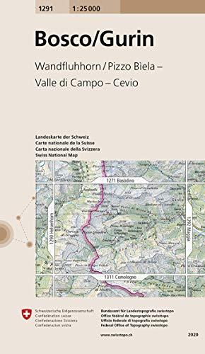 1291 Bosco/Gurin: Wandfluhhorn - Pizzo Bìela - Valle di Campo - Cevio (Landeskarte 1:25 000)