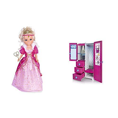 Nancy Pack de Ropita 3 Deseos (700014657) + Armario de Ensueño, Armario con Luz y Perchas, para Niños y Niñas A Partir de 3 Años, Multicolor, (700015137)
