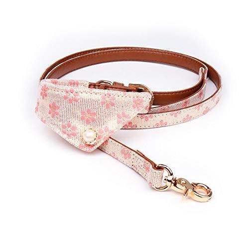 Halsband voor honden, roze driehoek, gevormde sjaal, halsband voor honden en huisdieren, zacht gevoerd, licht, gezellig, 1.5*47CM