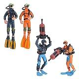 Yardwe 4pcs Scale Models People Set Mini Swimmers Figurines Plastic Scuba Diver Toy Figures for Miniature Sand Table Underwater Sea Ocean Scene Scenery Layout Ornaments