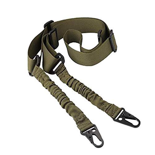 Dyna-Living Gewehr Sling 2 Punkt Schulter Gurt Gun Strap Multi Gun Belt Shoulder Cable Verstellbare Schulter Seil mit elastischer Kordel für Jagd Camping Spiel