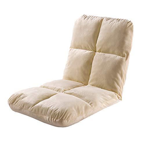 WZF Silla de Suelo Ajustable para Interiores, Silla Plegable Acolchada para Juegos para niños de 5 Posiciones, meditación, Lectura, Ver televisión