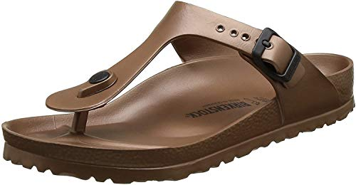 Birkenstock Unisex Gizeh Essentials EVA Sandals, Metallic Copper, 41 R EU, 10-10.5 Women/8-8.5 Men M US
