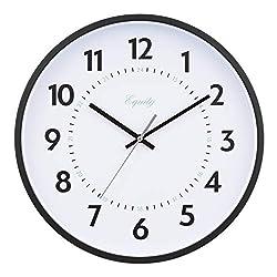 Equity by La Crosse 25509 14 Inch Basics Commercial Quartz Wall Clock, Pack of 1, Black