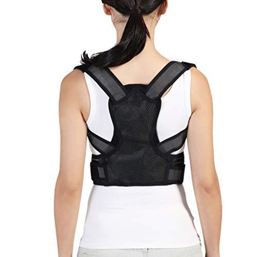 ZSZBACE Bequeme Haltungskorrektur für Kinder und Frauen, leichte und atmungsaktive volle Rückenstützen, Ausrichten der Wirbelsäule und Rückenschmerzen Reduzieren (L)
