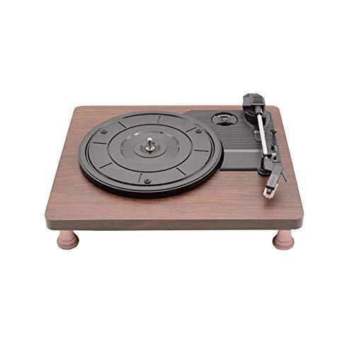 Zyy Stir IT UP platenspeler van bamboe, gemaakt op duurzame wijze, recyclingweefsel, opnamefunctie USB op PC/Mac