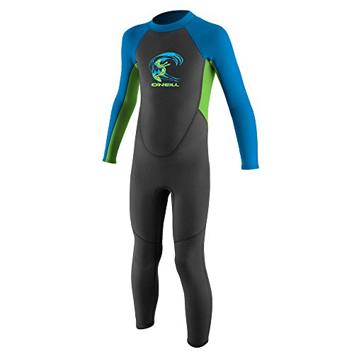 O'Neill 2017 Toddler Reactor 2mm Back Zip Wetsuit Graphite/Dayglo/Blue 4868 Age/Size - 6 Years