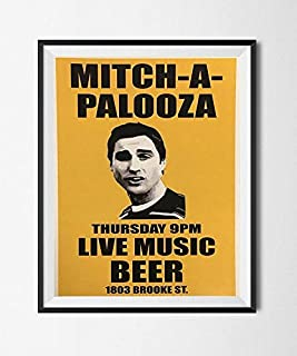 Lee Tee Mitch-A-Palooza Poster Movie Flyer Prop Print Mitch Martin Gift for Men Woman Poster Home Art Wall Posters [No Framed]
