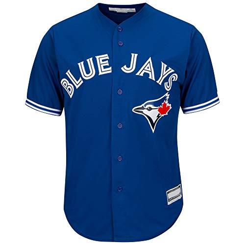 Outerstuff MLB 8-20 Youth Blank Cool Base Alternate Color Team Jersey (Large 14/16, Toronto Blue Jays Alternate Blue)