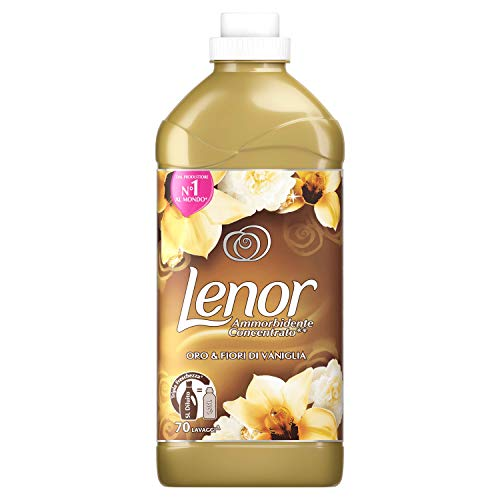Lenor Ammorbidente Oro & Fiori di Vaniglia, Maxi Formato da 70 Lavaggi