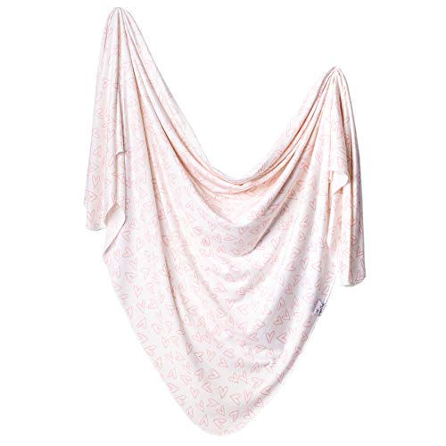 Copper Pearl Large Premium Knit Baby-Swaddle Receiving Blanket