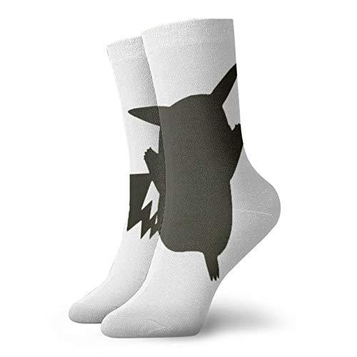 Anime Socks Pikachu Weiche schnell trocknende atmungsaktive Sportsocken Unisex Crew Socken 30 cm