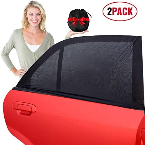Universal Car Sun Shades for Side Rear Windows 2 Pack Stretch Sock Shade to Protect Baby Kids product image