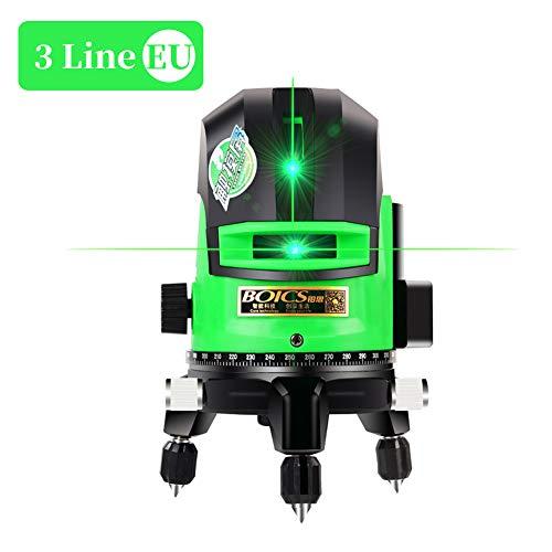 Kreuzlinienlaser grün 30M, Laser Level 3 Linie careslong 360° grüner Laserpegel selbstausgleichende, IP 54 Selbstnivellierende Vertikale und Horizontale Linie (inklusive 2pcs Batterie)