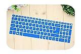 TOIT Tastaturschutz aus Silikon für Acer Aspire E15 E 15 E5 576 E5576 V3 V15 E5 553G / 575G / Aspire 3 5 7 Series-Blue