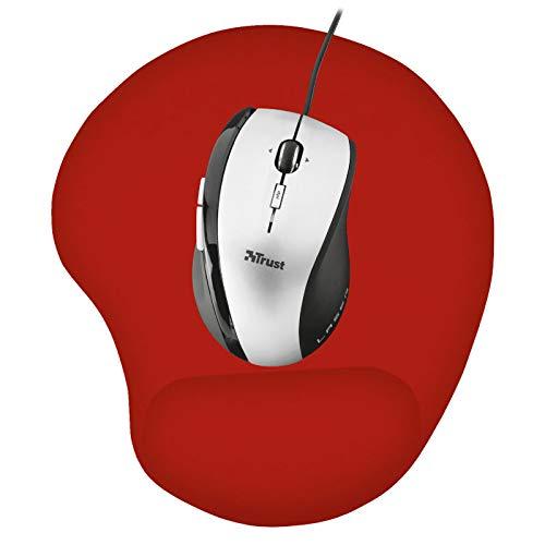 Alfombrilla para Ratón Roja Ergonómica, PC Ordenador Computador, Reposamuñecas de Gel para Descanso de la Muñeca
