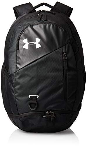 Under Armour Hustle 4.0 strapazierfähiger Laptop Rucksack mit praktischen Taschen, wasserabweisender Tagesrucksack mit viel Platz, Schwarz, Einheitsgröße