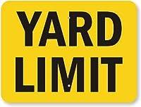 SmartSign by Lyle K-9972-FY-18x24 Yard Limit Fluorescent Diamond Grade Reflective Aluminum Sign 18 Length 24 Width 0.5 Height [並行輸入品]