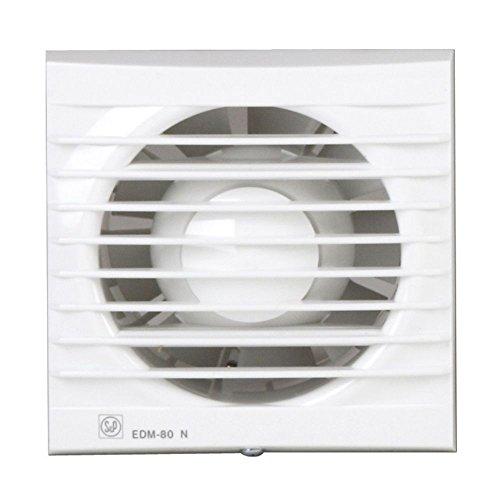 Soler & Palau; EDM-80NT(más opciones clic: aquí); extractor baño doméstico con temporizador fijo de 8 min. diam: 100mm.