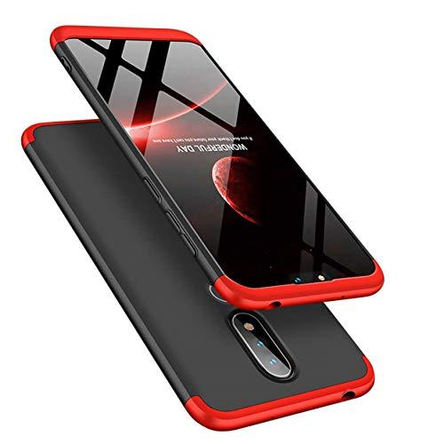 MRSTER Nokia 6.1 Plus Cover, 3 in 1 Duro PC Full Body Protezione Custodia Guscio Anti Shock Anti-graffio Bumper 360 Gradi Matte Custodia per Nokia 6.1 Plus/Nokia X6. 3 in 1- Red + Black