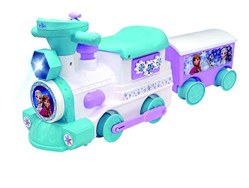 Disney 2-in-1 Battery-Powered Frozen Train with Caboose & Tracks