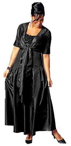 Abendkleid mit Pailletten schwarz von MIM Gr. 88 (44)