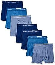 Calvin Klein Men's Cotton Classics Megapack Boxer Briefs, Blue (7 Pack), M