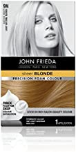 John Frieda Precision Foam Color, Light Natural Blonde 9N, Full-coverage Hair Color Kit, with Thick Foam for Deep Color Saturation