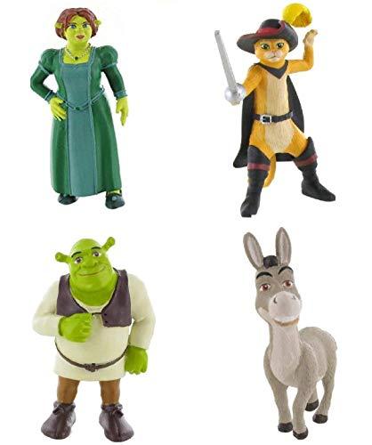 Comansi Shrek Figuren Set mit Shrek, Fiona, Esel, Kater