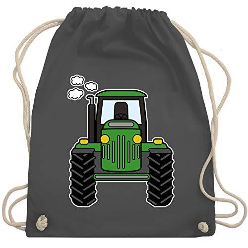 Shirtracer Andere Fahrzeuge - Traktor Front - Unisize - Dunkelgrau - WM110 - Turnbeutel und Stoffbeutel aus Bio-Baumwolle