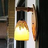 JINKEBIN Lámpara de Pared Creativa Cafetería Bar Tea Room Luz Ambiente Sala de Estar Estudio Granja con la lámpara de Pared del Restaurante Encargo de bambú Lámpara de Pared Arte Sala de Estar