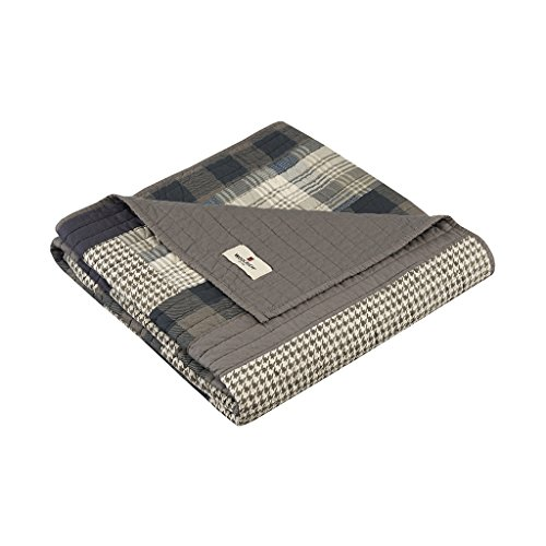 Woolrich Winter hills Luxury Quilted Throw Tan Gray 50x70...