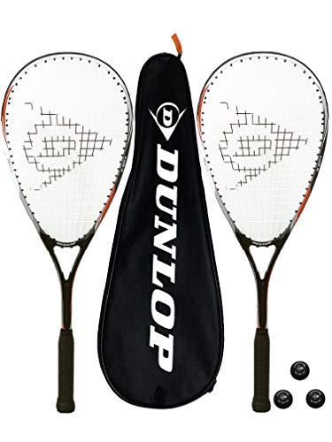 Dunlop Biotec X-Lite Squashschläger x 2 + Schlägerhülle (2) + 3 Squash-Bälle (Verschiedene Optionen) (Predator)