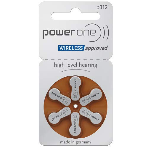 Power One Size 312 Mercury Free Hearing Aid Batteries (4 Pack (60 Batteries))