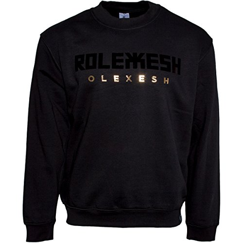 385IDEAL Olexesh Rolexesh metallic Black Pullover Schwarz XL