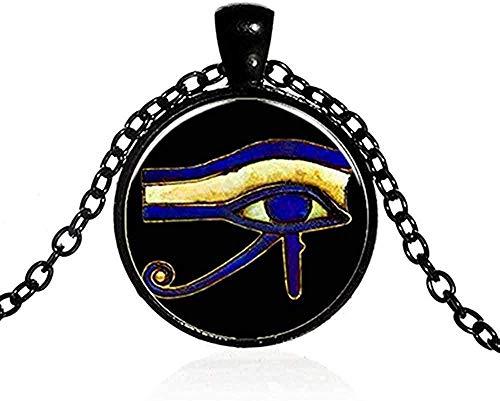 Halskette Männer S Halskette Alter Gott Horus Auge Halskette Drittes Auge Mandala Indischer Schmuck Retro Glas Cabochon Po Handgemachte Amulett Halskette Frauen Anhänger Halskette Geschenk für Frauen