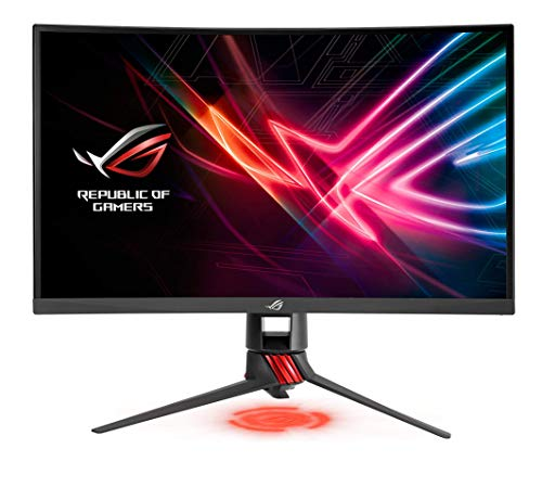 """ASUS ROG Strix 27"""" Curved Gaming Monitor Full HD 1080p 144Hz DP HDMI DVI Fully Adjustable Function w/ Industry leading 3 years warranty (XG27VQ)"""