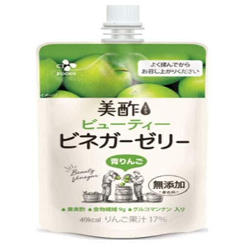 CJジャパン 美酢(ミチョ) ビューティー ビネガーゼリー 青りんご 130gパウチ×36本入×(2ケース)