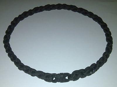 Paracord Survival Necklace Black (18 inches)