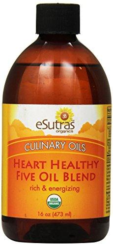 Esutras Organics Heart Healthy Cooking Oil, 16 Ounce