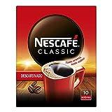 NESCAFÉ CLASSIC DESCAFEINADO todo aroma y sabor, café soluble descafeinado, estuche con 10 sobres