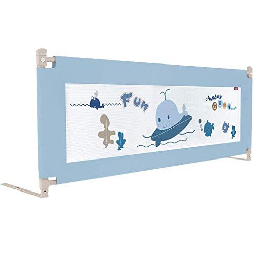 Barandillas de Cama para niños Barandilla de Cama Levantamiento de Cama anticaída Barandilla de Cama Bafle de Cama Barrera de Seguridad Universal para niños (Color: Blue-150CM)